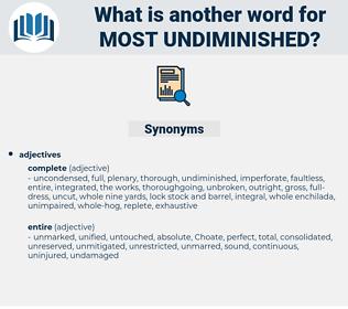 most undiminished, synonym most undiminished, another word for most undiminished, words like most undiminished, thesaurus most undiminished