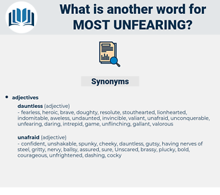most unfearing, synonym most unfearing, another word for most unfearing, words like most unfearing, thesaurus most unfearing