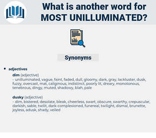most unilluminated, synonym most unilluminated, another word for most unilluminated, words like most unilluminated, thesaurus most unilluminated