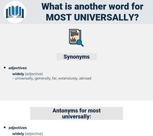 most universally, synonym most universally, another word for most universally, words like most universally, thesaurus most universally