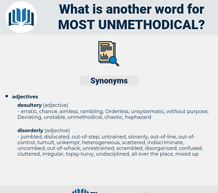 most unmethodical, synonym most unmethodical, another word for most unmethodical, words like most unmethodical, thesaurus most unmethodical