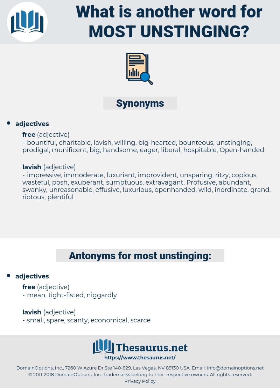 most unstinging, synonym most unstinging, another word for most unstinging, words like most unstinging, thesaurus most unstinging