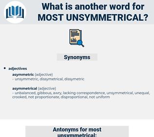 most unsymmetrical, synonym most unsymmetrical, another word for most unsymmetrical, words like most unsymmetrical, thesaurus most unsymmetrical