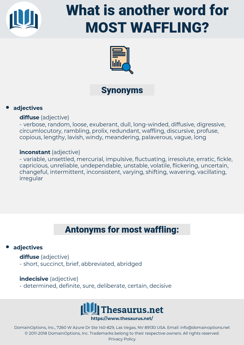 most waffling, synonym most waffling, another word for most waffling, words like most waffling, thesaurus most waffling