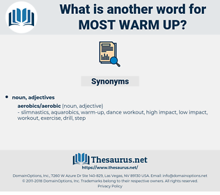 most warm-up, synonym most warm-up, another word for most warm-up, words like most warm-up, thesaurus most warm-up