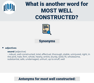 most well constructed, synonym most well constructed, another word for most well constructed, words like most well constructed, thesaurus most well constructed