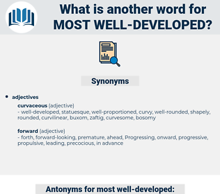 most well developed, synonym most well developed, another word for most well developed, words like most well developed, thesaurus most well developed
