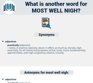 most well-nigh, synonym most well-nigh, another word for most well-nigh, words like most well-nigh, thesaurus most well-nigh