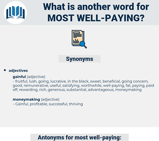 most well-paying, synonym most well-paying, another word for most well-paying, words like most well-paying, thesaurus most well-paying