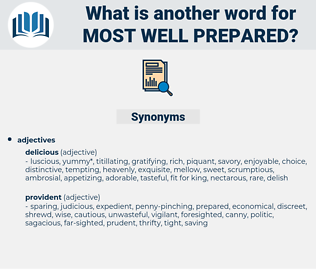 most well prepared, synonym most well prepared, another word for most well prepared, words like most well prepared, thesaurus most well prepared