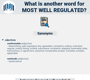 most well regulated, synonym most well regulated, another word for most well regulated, words like most well regulated, thesaurus most well regulated