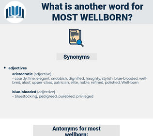 most wellborn, synonym most wellborn, another word for most wellborn, words like most wellborn, thesaurus most wellborn