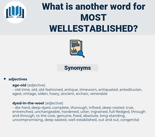 most wellestablished, synonym most wellestablished, another word for most wellestablished, words like most wellestablished, thesaurus most wellestablished