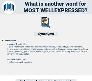 most wellexpressed, synonym most wellexpressed, another word for most wellexpressed, words like most wellexpressed, thesaurus most wellexpressed