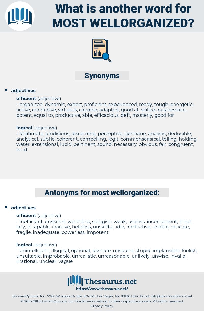 most wellorganized, synonym most wellorganized, another word for most wellorganized, words like most wellorganized, thesaurus most wellorganized