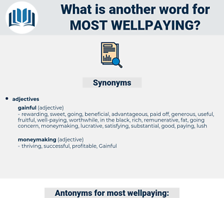 most wellpaying, synonym most wellpaying, another word for most wellpaying, words like most wellpaying, thesaurus most wellpaying