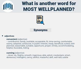 most wellplanned, synonym most wellplanned, another word for most wellplanned, words like most wellplanned, thesaurus most wellplanned