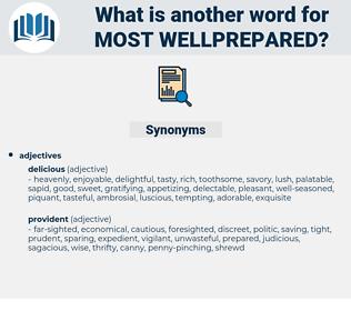 most wellprepared, synonym most wellprepared, another word for most wellprepared, words like most wellprepared, thesaurus most wellprepared