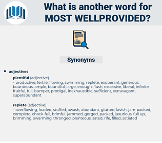 most wellprovided, synonym most wellprovided, another word for most wellprovided, words like most wellprovided, thesaurus most wellprovided