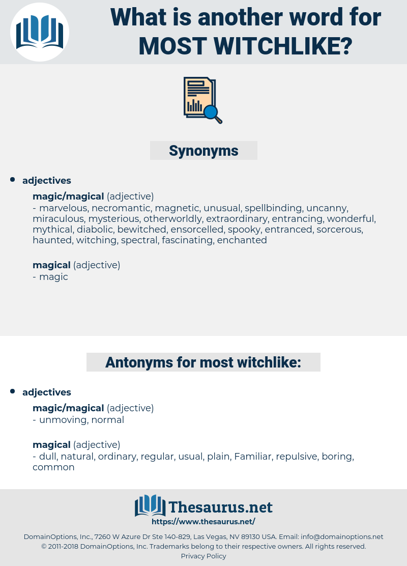 most witchlike, synonym most witchlike, another word for most witchlike, words like most witchlike, thesaurus most witchlike