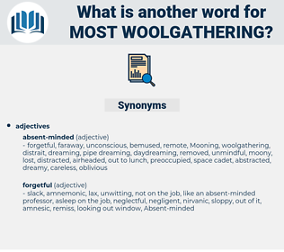 most woolgathering, synonym most woolgathering, another word for most woolgathering, words like most woolgathering, thesaurus most woolgathering
