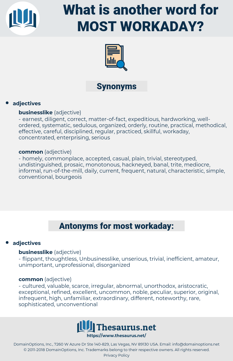 most workaday, synonym most workaday, another word for most workaday, words like most workaday, thesaurus most workaday