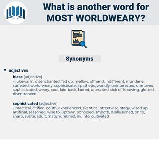 most worldweary, synonym most worldweary, another word for most worldweary, words like most worldweary, thesaurus most worldweary