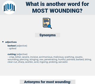 most wounding, synonym most wounding, another word for most wounding, words like most wounding, thesaurus most wounding