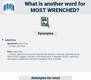 most wrenched, synonym most wrenched, another word for most wrenched, words like most wrenched, thesaurus most wrenched