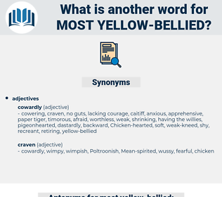 most yellow bellied, synonym most yellow bellied, another word for most yellow bellied, words like most yellow bellied, thesaurus most yellow bellied