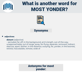 most yonder, synonym most yonder, another word for most yonder, words like most yonder, thesaurus most yonder