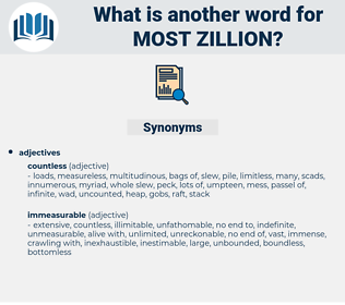 most zillion, synonym most zillion, another word for most zillion, words like most zillion, thesaurus most zillion