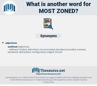 most zoned, synonym most zoned, another word for most zoned, words like most zoned, thesaurus most zoned