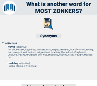 most zonkers, synonym most zonkers, another word for most zonkers, words like most zonkers, thesaurus most zonkers