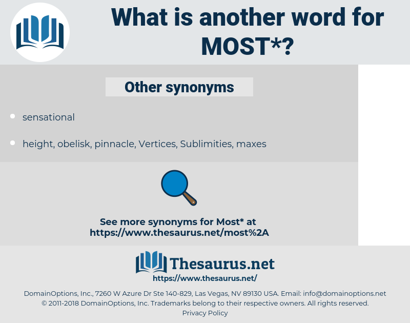 most, synonym most, another word for most, words like most, thesaurus most