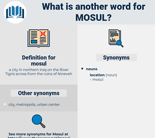 mosul, synonym mosul, another word for mosul, words like mosul, thesaurus mosul