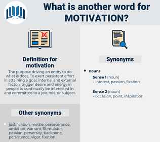 motivation, synonym motivation, another word for motivation, words like motivation, thesaurus motivation