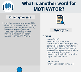 motivator, synonym motivator, another word for motivator, words like motivator, thesaurus motivator