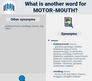 motor mouth, synonym motor mouth, another word for motor mouth, words like motor mouth, thesaurus motor mouth