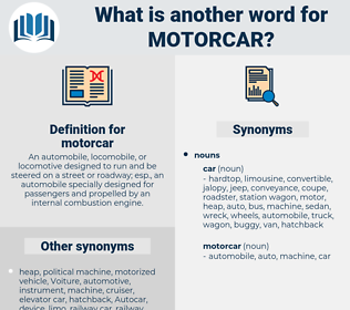 motorcar, synonym motorcar, another word for motorcar, words like motorcar, thesaurus motorcar