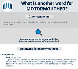 motormouthed, synonym motormouthed, another word for motormouthed, words like motormouthed, thesaurus motormouthed