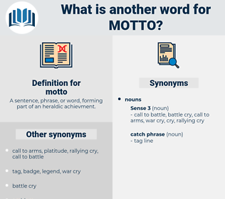 motto, synonym motto, another word for motto, words like motto, thesaurus motto