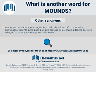 mounds, synonym mounds, another word for mounds, words like mounds, thesaurus mounds