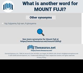 Mount Fuji, synonym Mount Fuji, another word for Mount Fuji, words like Mount Fuji, thesaurus Mount Fuji