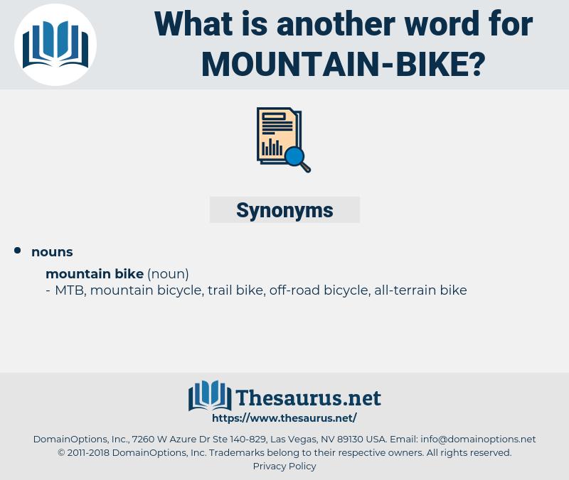 mountain bike, synonym mountain bike, another word for mountain bike, words like mountain bike, thesaurus mountain bike