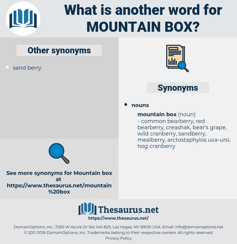 mountain box, synonym mountain box, another word for mountain box, words like mountain box, thesaurus mountain box