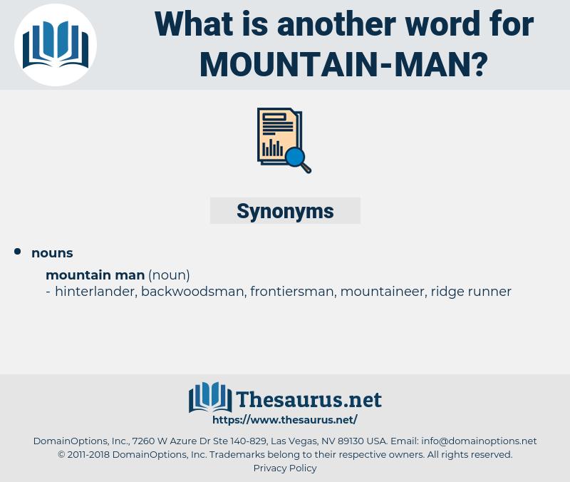 mountain man, synonym mountain man, another word for mountain man, words like mountain man, thesaurus mountain man