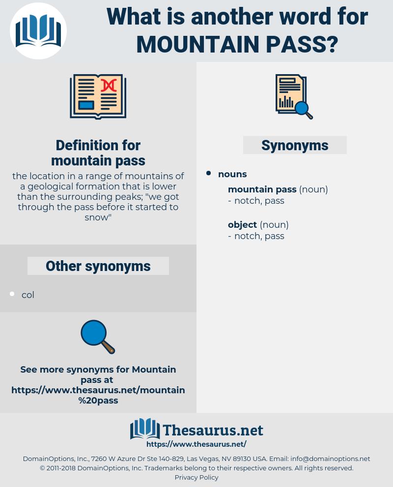 mountain pass, synonym mountain pass, another word for mountain pass, words like mountain pass, thesaurus mountain pass
