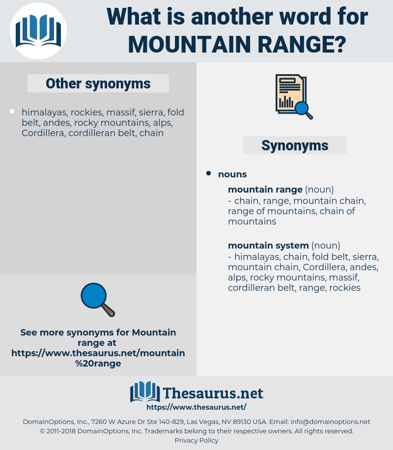 mountain range, synonym mountain range, another word for mountain range, words like mountain range, thesaurus mountain range