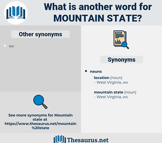 mountain state, synonym mountain state, another word for mountain state, words like mountain state, thesaurus mountain state